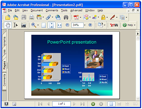 Converted presentation in Adobe Acrobat.
